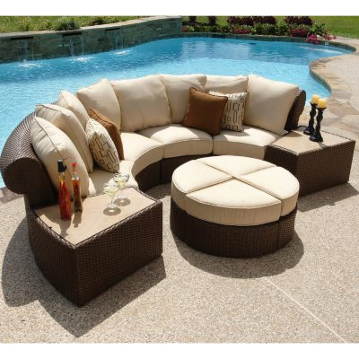 Isola Wicker Outdoor Patio Sectional Furniture Set 7 pc Sams