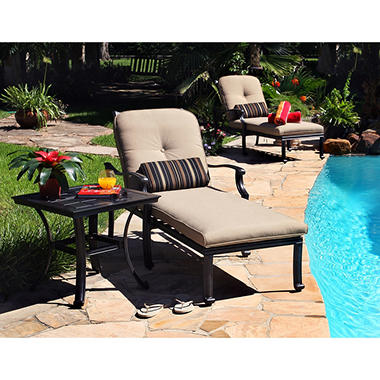 Barcelona Chaise Lounge Set - 3 pc.