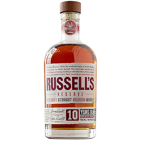 Russell's Reserve 10-Year-Old Bourbon Whiskey (750 ml)