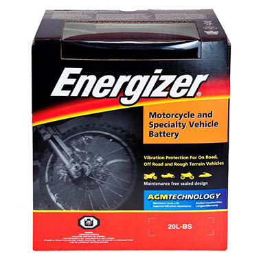 Energizer AGM PowerSport Battery - Group Size 20LBS