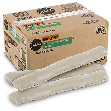 Jumbo White Hoagie Rolls, Bulk Wholesale Case (42 ct.)