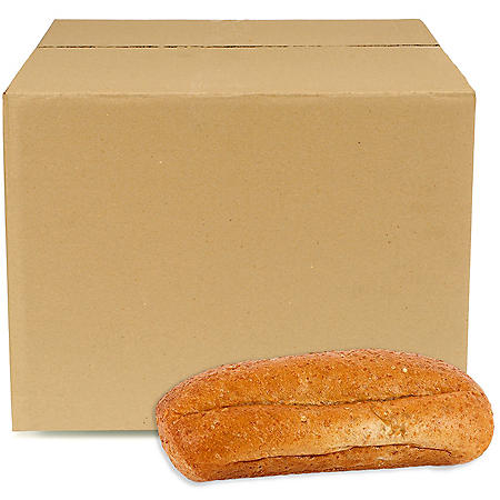Regular Wheat Hoagie, Bulk Wholesale Case (84 ct.)