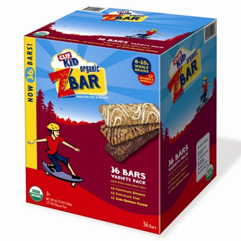 CLIF Kid Organic ZBar Whole Grain Energy Snack, Variety Pack (1.27 oz., 36 ct.)