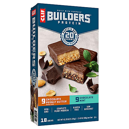 CLIF Builder's 20g Protein Bar, Variety Pack (2.4 oz.,18 ct.)