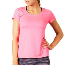 Bally Total Fitness Ladies Active Mesh Back Tee