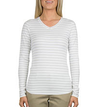 Eddie Bauer Long Sleeve V-Neck Cotton Modal Tee