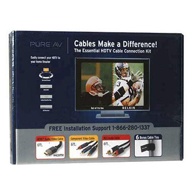 Pure AV HDTV Cable Connection Kit