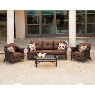LaZBoy Outdoor Eva 4 pc Deep Seating Set Sams Club