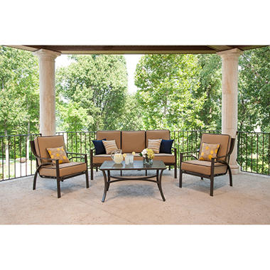 La-Z-Boy Outdoor Jax 4 pc. Deep Seating Set with Premium Sunbrella® Fabric