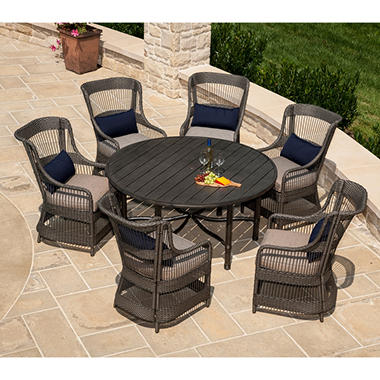 La-Z-Boy Outdoor Juliette 7 pc. Patio Dining Set with Premium Sunbrella® Fabric