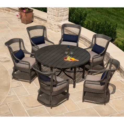 La-Z-Boy Outdoor Juliette 7 pc. Patio Dining Set with Premium Sunbrella® Fabric
