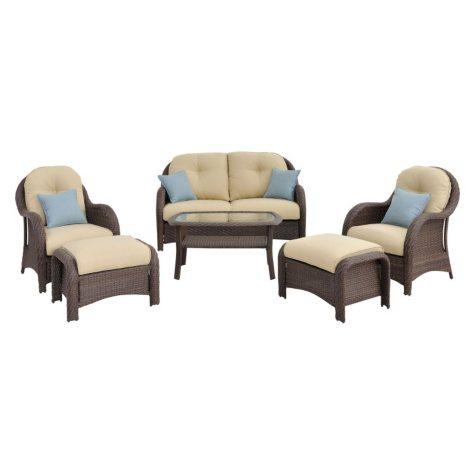 Newport 6-Piece Woven Seating Set, Various Colors