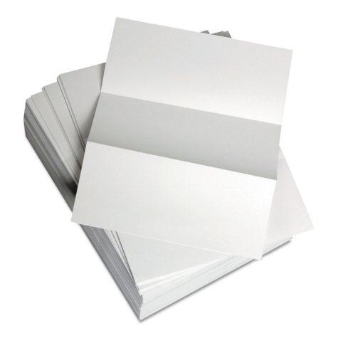 "Domtar Custom Cut-Sheet Copy Paper, 20 lb., 8.5"" x 11"", White, Perfed 3 2/3"", 1 RM"