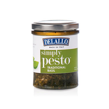 DeLallo Traditional Basil Simply Pesto Sauce (6.35 oz., 12 ct.)