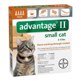 Advantage II Topical Flea Protection for Cats, Small (5 - 9 lbs.) 4 ct.