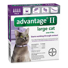 Advantage II Topical Flea Protection for Cats, Large (Over 9 lbs.) 4 ct.