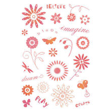 Inkadinkado Clear Stamps-Garden Words-24PC