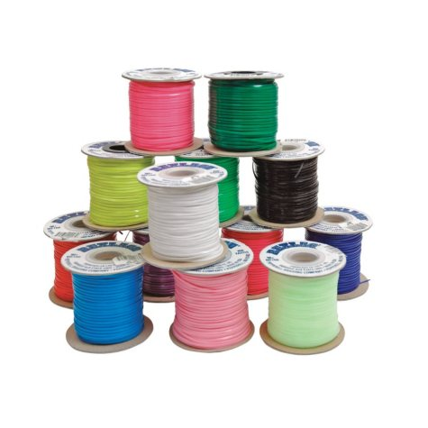 """Pepperell Braiding Vinyl Flat Lacing, 3/32"""" x 100 Yards, Assorted Colors, Pack of 25"""