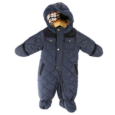 Baby Boys' Hooded Pram Snowsuit