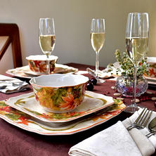 Autumn Celebration Porcelain Dinnerware Set (12 pc.)