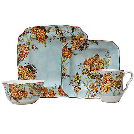 222 Fifth Gabrielle 16-Piece Dinnerware Set (Assorted Colors)