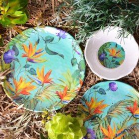 12-Piece Calabria Melamine Dinnerware Set