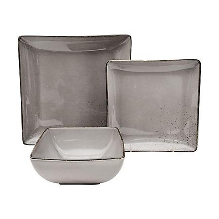12-Piece Ash Porcelain Dinnerware Set
