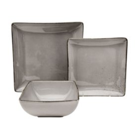 12-Piece Ash Porcelain Dinnerware Set
