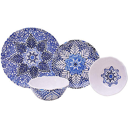 222 5th 12-Piece Melamine Dinnerware Set (Assorted Colors)