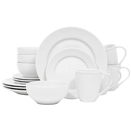 Sango Callista White 16-Piece Dinnerware Set