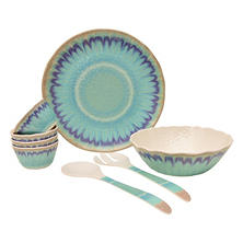 8-Piece Sea Splash Melamine Serving Set