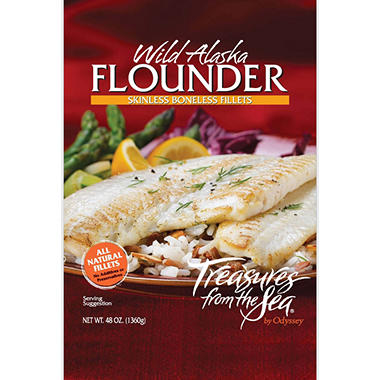 Treasures from the Sea® Wild Alaskan Flounder Fillets - 48 oz.