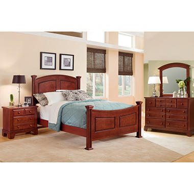 Elm Panel Bedroom Set, Queen (4 pc. set) - Sam\'s Club