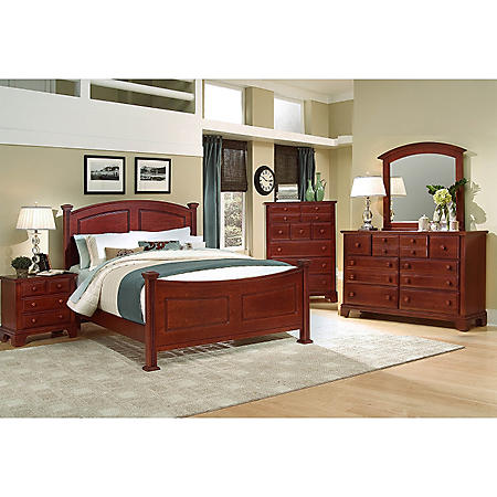 Elm Panel Bedroom Set, Queen (6-pc. set)