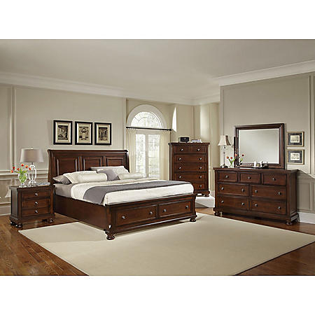 Bailey Sleigh Storage Bedroom Set (Assorted Sizes)