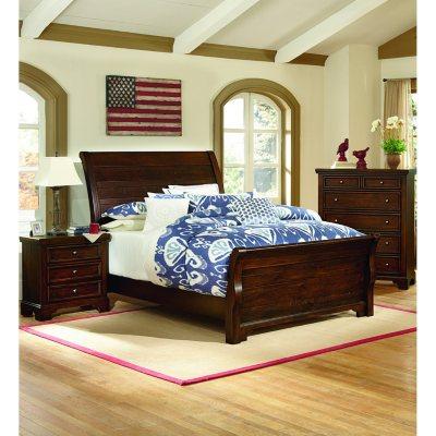 Brooklyn Sleigh Bedroom Set, King (4 Pc. Set)
