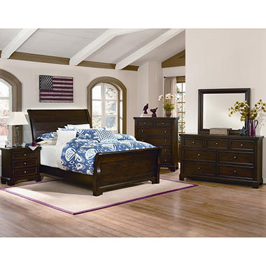 Brooklyn Sleigh Bedroom Set, King (6 pc. set) - Sam\'s Club