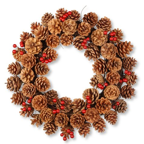 "Pinecone Wreath-20"" Diameter"