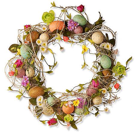 "18"" Garden Accents Easter Egg Wreath"