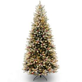 National Tree Company 7.5' Pre-Lit Dunhill Fir Slim Christmas Tree