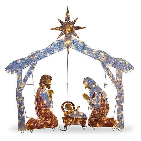 """National Tree Co. 72"""" Pre-Lit Nativity Scene"""