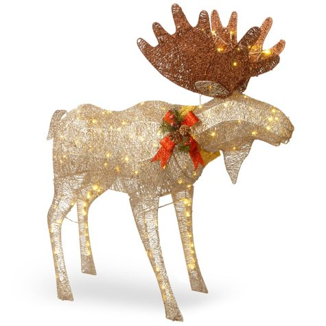 "National Tree Co. 48"" Pre-Lit Outdoor Decor Moose"