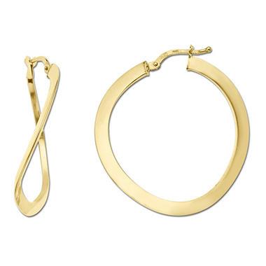 3x30mm Hoop Earring In 14k Yellow Gold Sam S Club