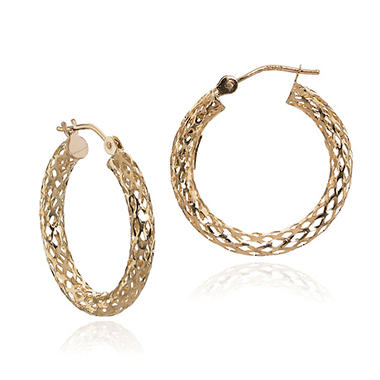 PIERCED TUBE HOOP 14K YELLOW GOLD