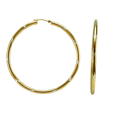 Love, Earth Sterling Silver & 14K Gold Hoops