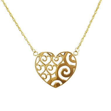 Love, Earth® Heart Pendant in 14K Yellow Gold
