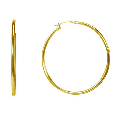 Love Earth 14k Yellow Gold Hoop Earrings Sam S Club