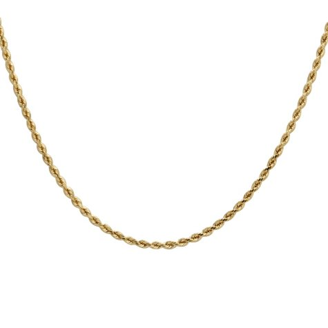 "18"" ROPE CHAIN 14 KARAT YELLOW GOLD"