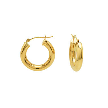 14K Yellow Gold Classic Hoop Earrings