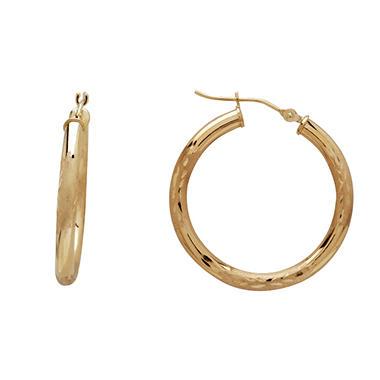 14k Yellow Gold Hoop Earrings Sam S Club